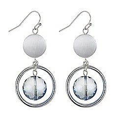 The Collection - Blue crystal hoop droplet earring