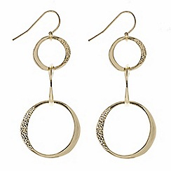 The Collection - Gold triple textured hoop earring