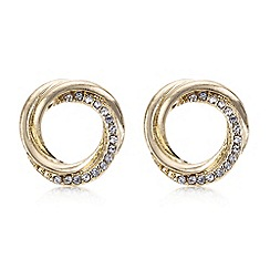 The Collection - Gold knotted stud earring