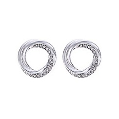 The Collection - Silver pave circle earring