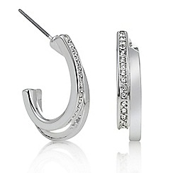 The Collection - Silver half hoop earring