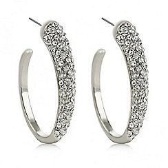 The Collection - Silver oval hoop earring
