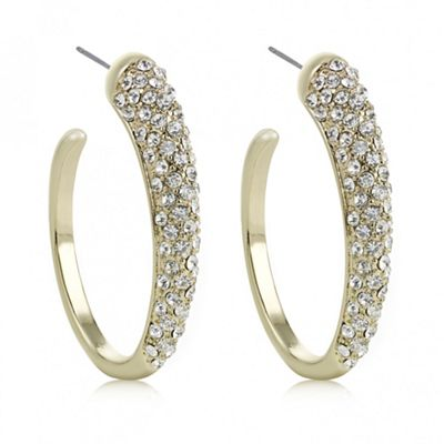 The Collection Gold oval hoop earring