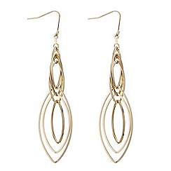 The Collection - Gold layered oval drop earring