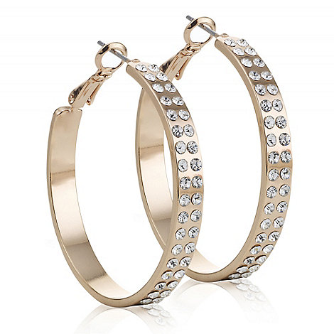 The Collection - Rose gold crystal hoop earring
