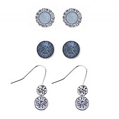 The Collection - Tonal blue and green mixed earring set