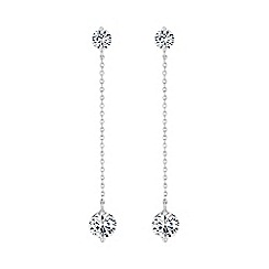 The Collection - Silver crystal drop earring