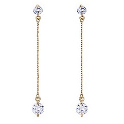 The Collection - Gold crystal chain drop earring