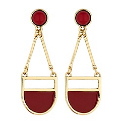 The Collection - Red multi shape chandelier earring