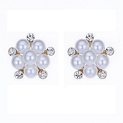 The Collection - Pearl and crystal cluster stud earring