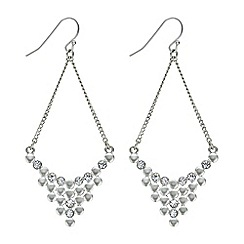 The Collection - Silver crystal chandelier earring