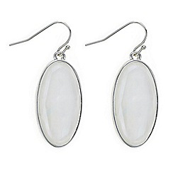 The Collection - Silver shell oval drop earring