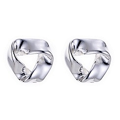 The Collection - Silver knotted stud earring