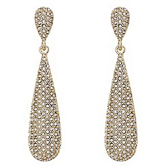 The Collection - Gold pave teardrop earring