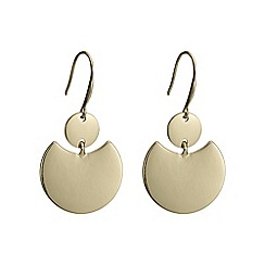 The Collection - Gold fan earring