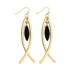 The Collection - Gold curved drop earring