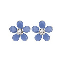 The Collection - Blue flower stud earring
