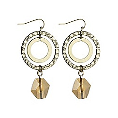 The Collection - Hoop and crystal drop earring