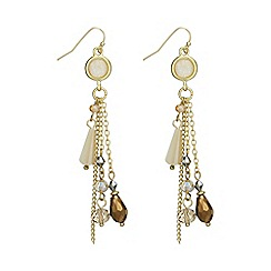 The Collection - Gold charm drop earring