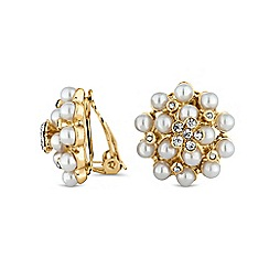 The Collection - Pearl cluster clip on earring
