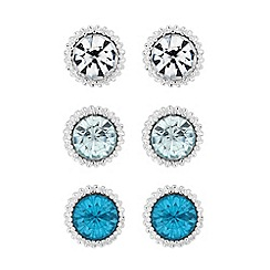 The Collection - Blue tonal crystal earring set