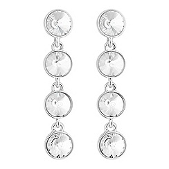 The Collection - Silver crystal drop earrings