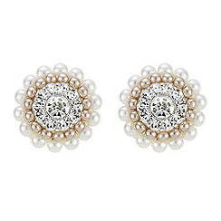 The Collection - Pearl cluster stud earrings