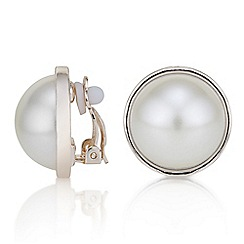 The Collection - Pearl clip on earrings