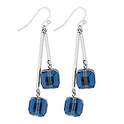 The Collection - Blue cube bead drop earrings