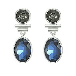 The Collection - Blue crystal drop earrings