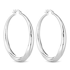 The Collection - Silver hoop earrings