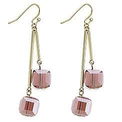The Collection - Beaded cube drop earrings