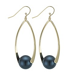 The Collection - Teal ball link drop earrings