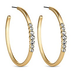 The Collection - Gold crystal hoop earrings