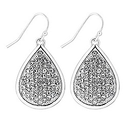 The Collection - Crystal pave peardrop earrings