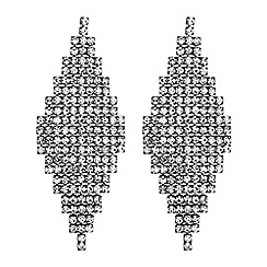 The Collection - Diamante crystal chandelier earrings