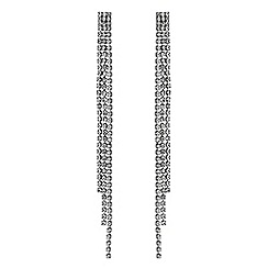 The Collection - Diamante crystal long drop earrings
