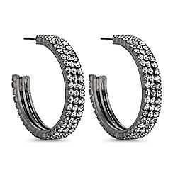 The Collection - Crystal encrusted hoop earrings