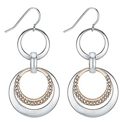 The Collection - Multi tone circle drop earrings