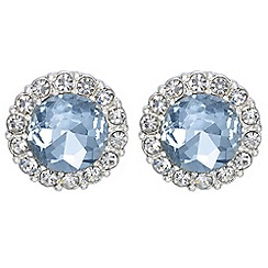 The Collection - Crystal halo stud earrings