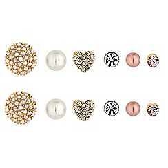 The Collection - Crystal and pearl earring set