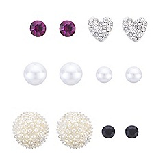 The Collection - Pearl and crystal earrings set