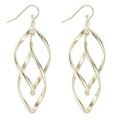The Collection - Double twist drop earrings