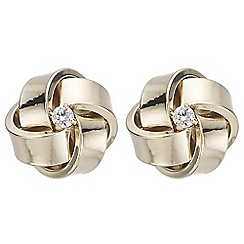 The Collection - Crystal knot stud earrings
