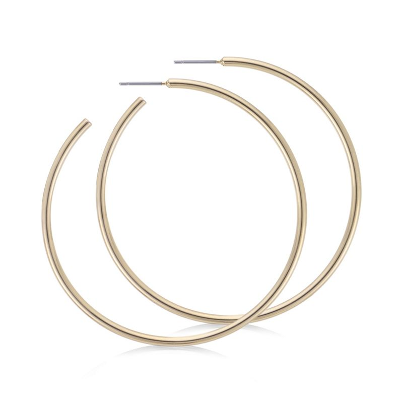 The Collection Gold oversized hoop earrings