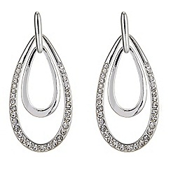 The Collection - Pave peardrop earrings