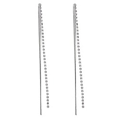 The Collection - Crystal chain drop earrings