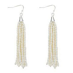 The Collection - Pearl tassel drop earrings