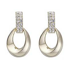 The Collection - Pave oval drop earrings
