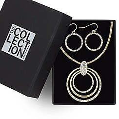 The Collection - Crystal pave circle jewellery set
